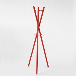 Coatstand 01 - red lacquer - RAL 3020